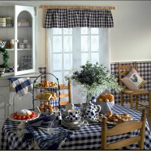 kitchen country gingham wallpapers housetohome idea check