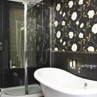wallpaper ideas for bathrooms 2017 - Grasscloth Wallpaper