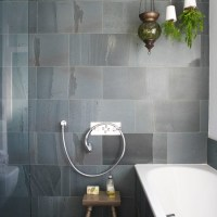 Bathroom with slate tiles