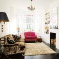 Living room boho chic victorian terrace ideal home house tour