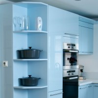 Install a cool corner | Best kitchen shelving ideas ...