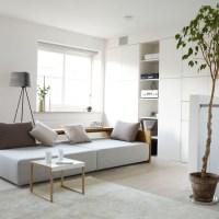White modern living room   Living room storage ...