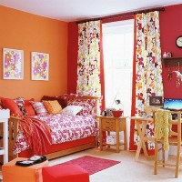Orange and red bedroom | Colourful children's bedroom ...