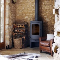 Country living room stove | Living room design ...