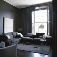 Grey Paint Living Room - Native Home Garden Design
