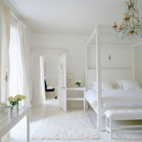 Chunky, white four-poster bed | Celia Rufey's bedroom ...