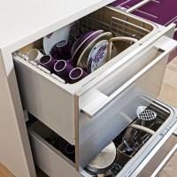 Kitchen dishwasher | Modern purple kitchen tour ...