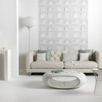 Contemporary white living room   Living room idea ...