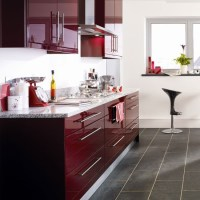 Burgundy kitchen | Kitchen colour schemes - 10 ideas ...
