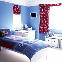 Football-themed boys' bedroom | Boys bedroom ideas and ...