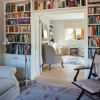 Living room with built-in bookcase | Living room ...
