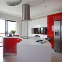 Modern red and white kitchen | Kitchen | housetohome.co.uk