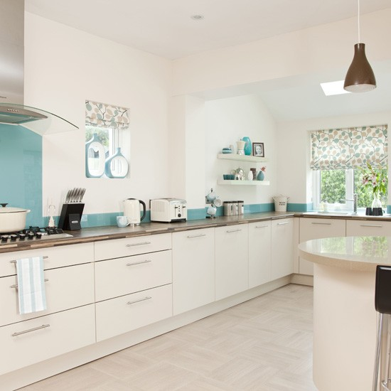 White and blue kitchen  Modern kitchen designs