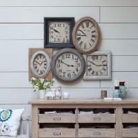 Rustic living room clock display | Country living room ...