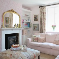Pretty pink country living room | Living room decorating ...