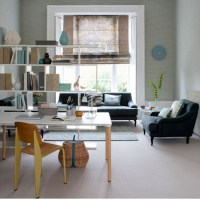Open-plan home office | Functional living room ideas ...