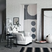 Calm monochrome living area | Living room decorating ideas ...