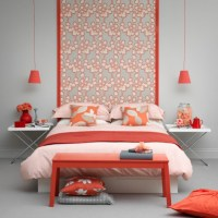 Modern coral bedroom | Bedroom decorating | housetohome.co.uk