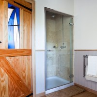 Shower room with panelled walls | Traditional bathroom ...