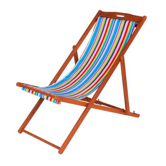Striped deckchair from Argos  Best garden deckchairs