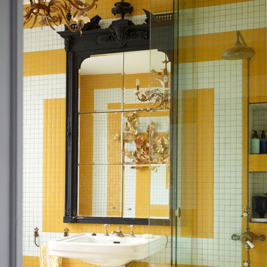 Decorative tiled bathroom