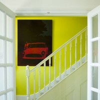 Hallway with acid yellow feature wall | Sunshine yellow ...