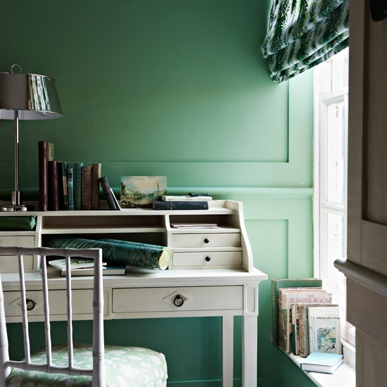 green home office Refreshing green home office | Modern decorating ideas | housetohome.co.uk