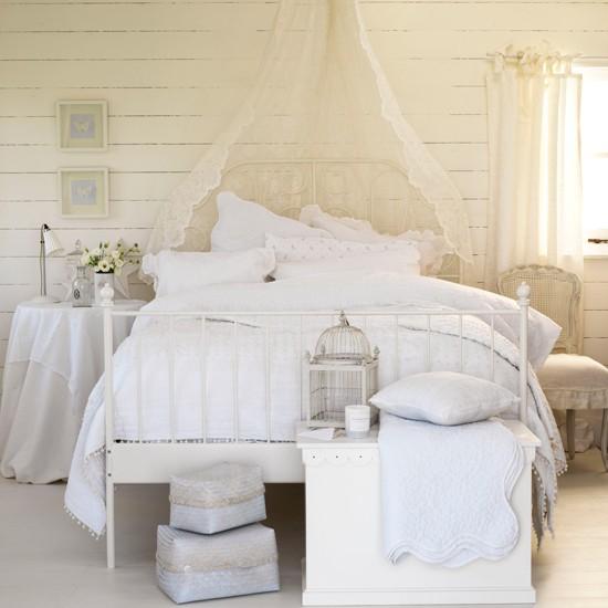 Textured white bedroom