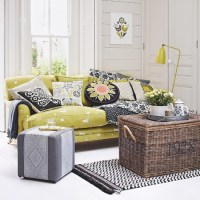 Citrus and grey living room | Country decorating ideas ...