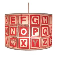Retro alphabet block lampshade from notonthehighstreet.com ...