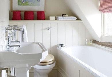 Small Attic Bathroom Design Ideas