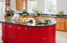 Magnificent Red Kitchen Island You Must See