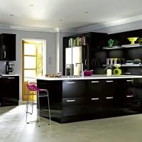 iT High Gloss Black kitchen from B&Q | Budget kitchen ...