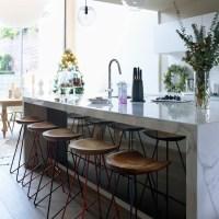 Modern kitchen with white marble island | modern ...