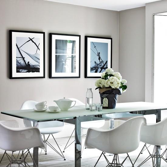 Cool grey dining room  housetohomecouk
