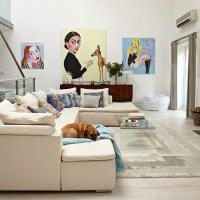 Pop art living room   Neutral living room   housetohome.co.uk