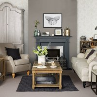 Brown and grey living room | housetohome.co.uk