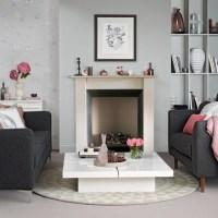 Grey and pink living room | housetohome.co.uk