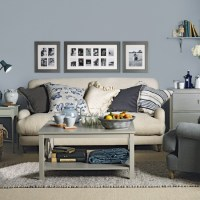 Blue grey living room | housetohome.co.uk