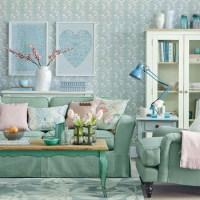 Verdigris and Cream Living Room | Living room ideas ...