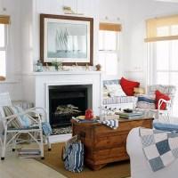 Nautical theme living room | White living room ideas ...