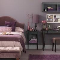 Lavender bedroom with desk | Bedroom decorating ideas ...