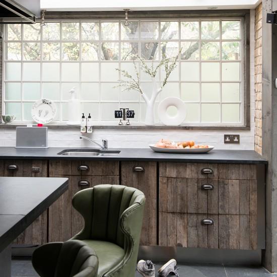 Reclaimed wood kitchen | Kitchen decorating ideas | housetohome.co.uk