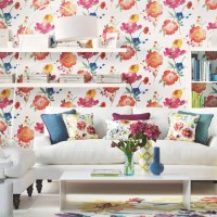 Bright floral and white living room | Summer floral design ...