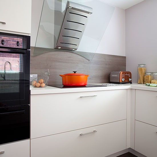 White and glass extractor kitchen  housetohomecouk