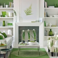 Green and white living room | Living room decorating ...