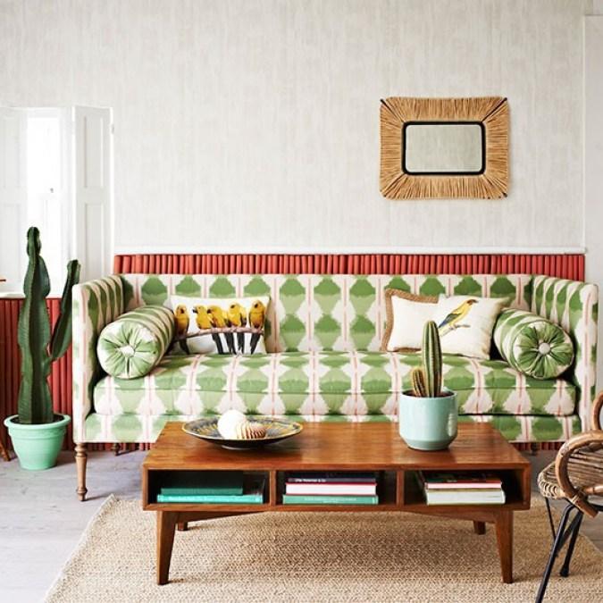 Resultado de imagem para printed sofa decoration