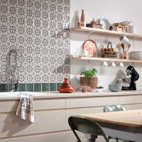 Tangier Decorative tile splashback from Topps Tiles ...
