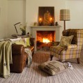 Earth toned living room winter decorating housetohome co uk