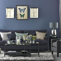Denim blue and grey living room | Living room decorating ...